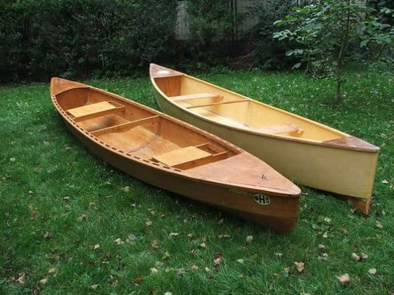 Two canoes. Simple and Classic. How to choose. storerboatplans.com