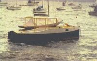 Dayboat Launch Picnic outboard cruiser or minimal stay aboard. storerboatplans.com