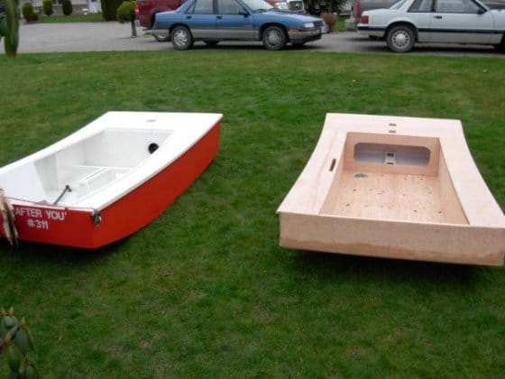 compare an OzRacer Mk2 with the more family oriented OzRacer RV - simple cheap sailboats that really perform
