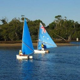first two ozracer simple sailboats - storerboatplans.com